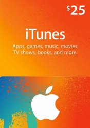 $25 iTunes Code CD Key
