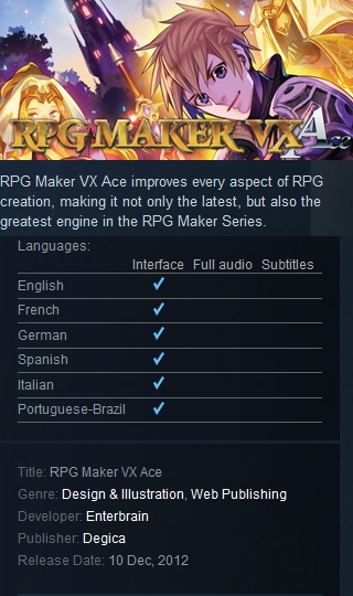 RPG Maker VX Ace steam|Steam Games